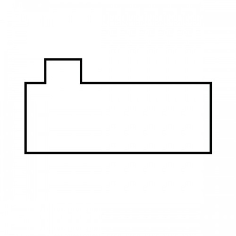 Rectangle Plus Extension Left Side Step